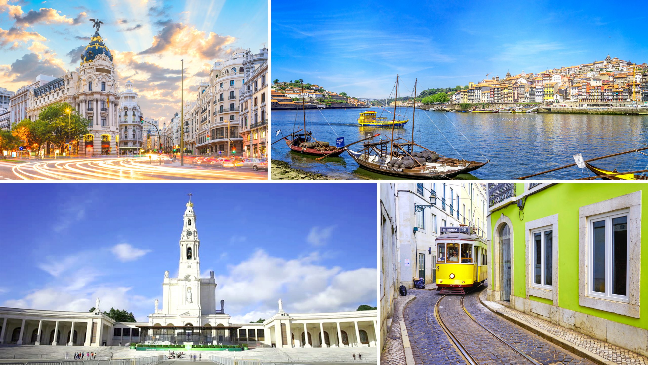 Madrid, Lisbon, Porto and Fatima