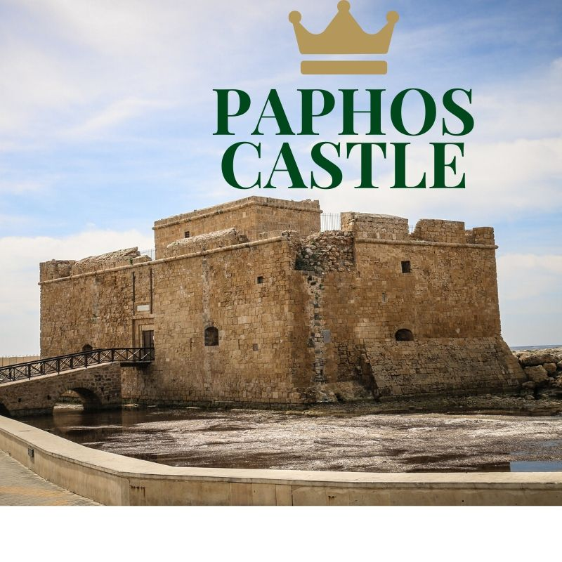 Paphos castle that was originally designed to protect the harbour and stands partially submerged in the sea today.