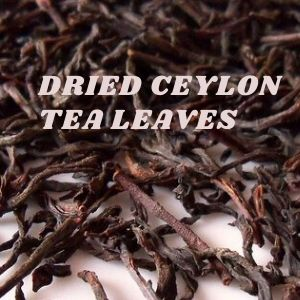 Ceylon tea lives look like wires and are processed by hand.